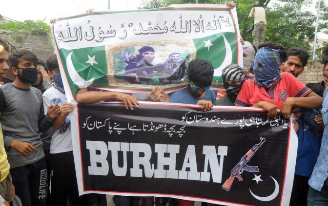 Banners 'admiring' Burhan Wani surface in funeral prayers of slain militants……..