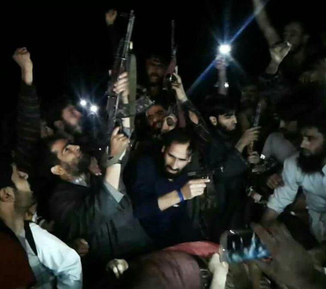 Must Watch Exclusive Video of Gun Slute offered to LeT Commander Bashir Lashkar at Soaf Shali Kokarnag…….